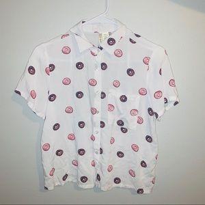 Donut button down shirt